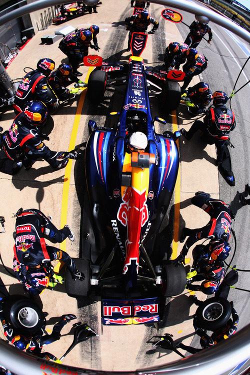 Plano del cambio de neumáticos en Red Bull