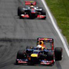 Sebastian Vettel y Lewis Hamilton en Canada