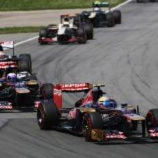Los Toro Rosso por delante de Pastor Maldonado