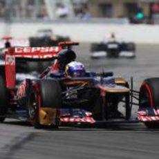 Daniel Ricciardo en la carrera del GP de Canadá 2012