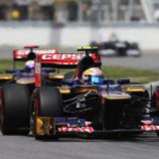 Los Toro Rosso ruedan juntos en Canadá
