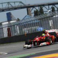 Buen rendimiento de Felipe Massa en la jornada del sábado