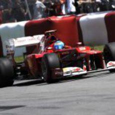 Fernando Alonso rueda en Montreal con el F2012