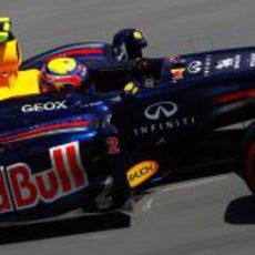 Mark Webber durante la clasificación del GP de Canadá