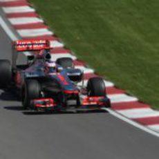 Jenson Button en la clasificación del GP de Canadá 2012
