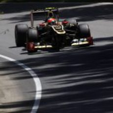 Romain Grosjean conduce el E20 por el trazado de Montreal