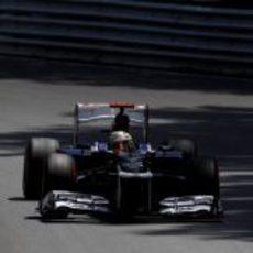 Pastor Maldonado prueba los superblandos en la jornada del sábado