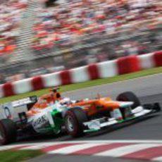 Paul di Resta rueda en la clasificación del GP de Canadá 2012