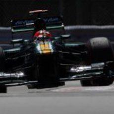 Heikki Kovalainen trata de progresar en los Libres 3 de Canadá