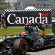 Heikki Kovalainen prueba los superblandos en Montreal