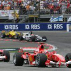 Sólo 6 coches compitieron en el GP de Estados Unidos 2005