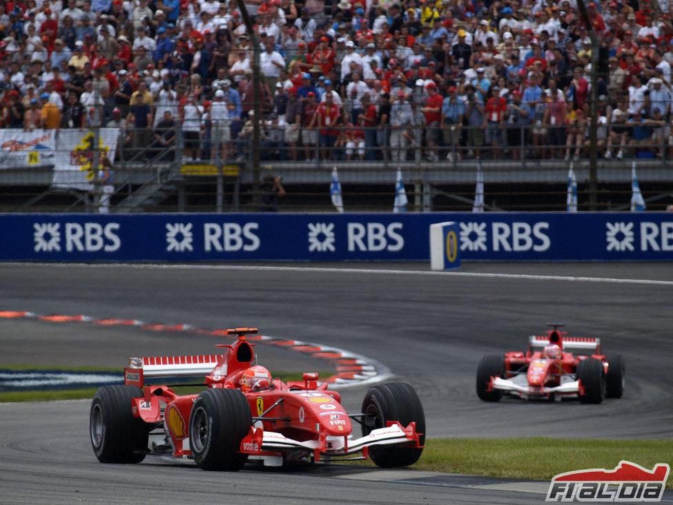 Los Ferrari lideraron todo el GP de Estados Unidos 2005