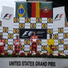 Podio del GP de Estados Unidos 2005