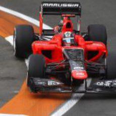 Timo Glock durante los entrenamientos libres del GP de Europa