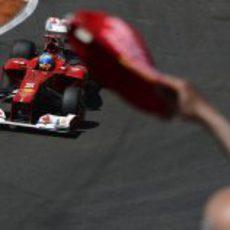 Fernando Alonso en la clasificación del GP de Europa 2012