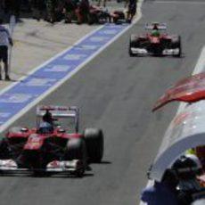 Los dos Ferrari fuera de la Q3 en el GP de Europa 2012