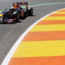 Sebastian Vettel en la clasificación del GP de Europa 2012