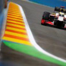 Pedro de la Rosa en los libres del GP de Europa 2012