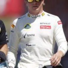 Kimi Räikkönen llega al Valencia Street Circuit