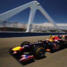El DRS no le funcionó a Webber durante la clasificación