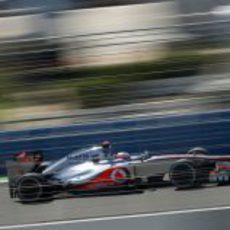 Jenson Button se quedó lejos en la Q3 del GP de Europa 2012