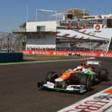 Paul di Resta exprime su VJM05 en la clasificación del GP de Europa