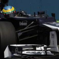 Plano de Bruno Senna en la clasificación del GP de Europa