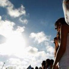 Reunión de las 'pit babes' de Valencia 2012