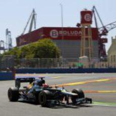 Heikki Kovalainen prueba los blandos en Valencia
