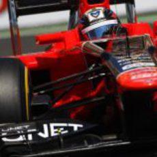 Timo Glock trata de progresar en el circuito valenciano