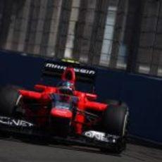Charles Pic intenta ganar posiciones en la clasificación del GP de Europa