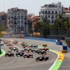 Salida del GP de Europa 2012