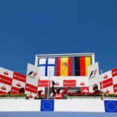 Podio del GP de Europa en Valencia