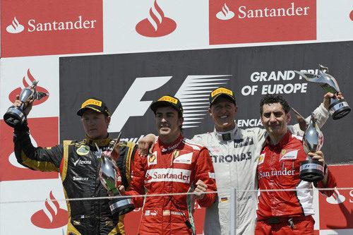 Podio del GP de Europa 2012