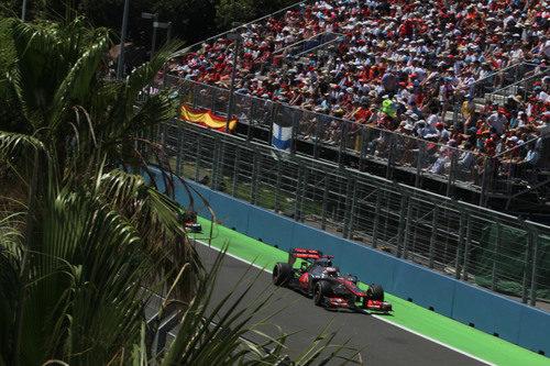 Jenson Button terminó octavo en el GP de Europa 2012