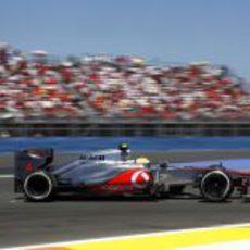 Lewis Hamilton abandonó en el GP de Europa 2012