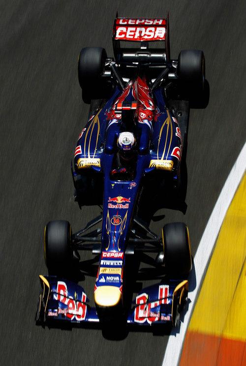 Daniel Ricciardo completa el GP de Europa 2012