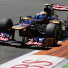 Jean-Eric Vergne no logró terminar el GP de Europa 2012