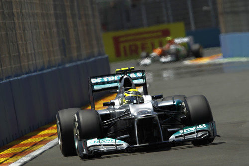 Nico Rosberg terminó sexto en el GP de Europa 2012