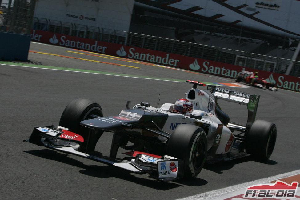 Kamui Kobayashi abandonó en el GP de Europa 2012