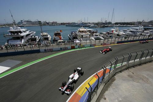 Kamui Kobayashi trata de recuperar posiciones en Valencia