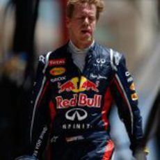 Sebastian Vettel abandona enfadado el circuito