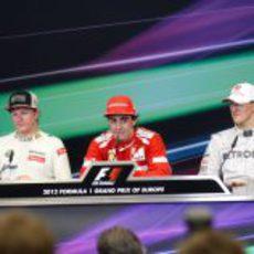 Rueda de prensa de los ganadores en el GP de Europa 2012