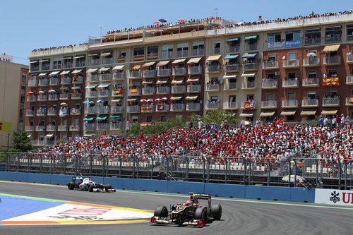 Romain Grosjean disputa el Gran Premio de Europa 2012