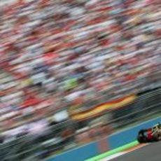 Romain Grosjean no pudo terminar el GP de Europa