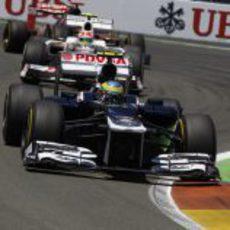 Bruno Senna completa el GP de Europa 2012
