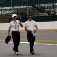 Luis Pérez-Sala y Pedro de la Rosa en Silverstone