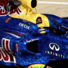 Todo el Red Bull RB8 recubierto con fotos