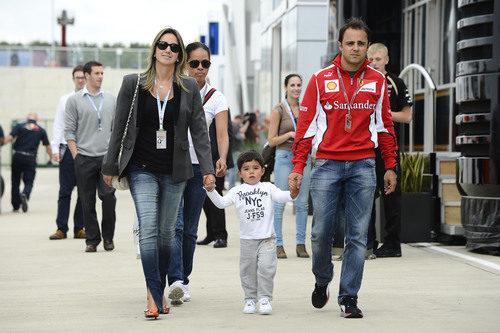 Felipe Massa y familia