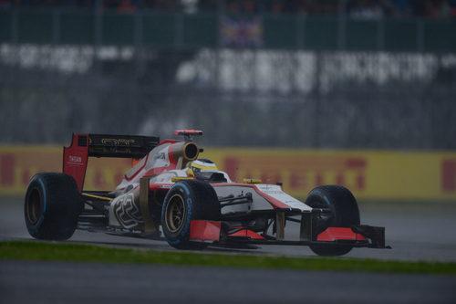 Pedro de la Rosa lucha con el F112 en Silverstone
